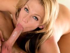 Bigtit mom Nikki Sexx sucks hammer juices off her mans cock